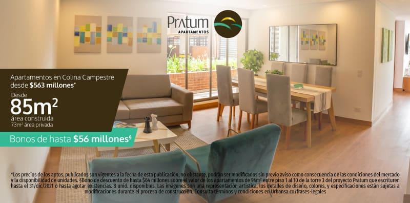 Apartamento Pratum con entrega inmediata en Colina Campestre de Bogotá