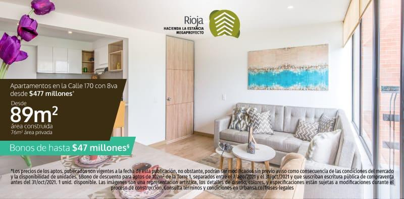 Apartamento Rioja con entrega inmediata en la Calle 170 de Bogotá